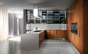 Contemporary kitchen / stainless steel / wooden - BARRIQUE