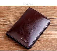 2018 brand new mens high quality cowboy leather wallet pockets card holders cente bifold cowhide purse