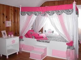 Zebra Canopy Bed for Girl