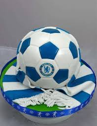 Chelsea Football Club Football Scarf Birthday Cake Angie Scott Cakes
