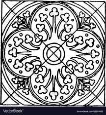 Medieval Design Patterns Medieval Tile Circle Pattern Is A Stained Glass