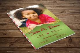 Child Funeral Program Template Child Funeral Program Template Photoshop By Godserv24 GraphicRiver 14