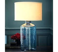 blue glass lamp. Blue Glass Lamps Table Lamp Base Light Pottery Barn .