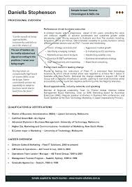 Australia Resume Format First Time Resume Templates Sample Resume ...