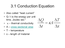3 1 conduction equation also called heat cur