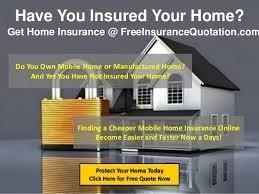 Mobile Home Insurance Quotes Online