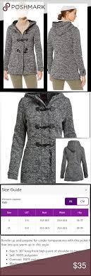 Yoki Size Chart Yoki Womens Toggle Black Fleece Jacket Nwt Still In