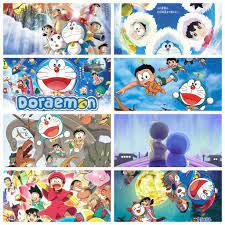 Poster Doraemon Chú mèo máy đến từ tương lai anime chibi tranh treo album  ảnh in hình đẹp chính hãng