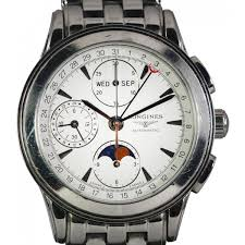 pre owned longines mens master collection moon phase watch pre pre owned longines mens master collection moon phase watch