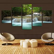 wall art 5pcs waterfall definition pictures canvas prints home
