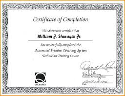 Templates For Certificates Of Completion Certificate Of Completion Template Allwaycarcare Com