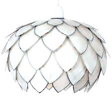 capiz pendant light pendant light unique curved flower white s artichoke in home furniture lighting lampshades capiz pendant