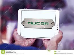 nucor steel corporation logo editorial photo image of logotype icon 101716251
