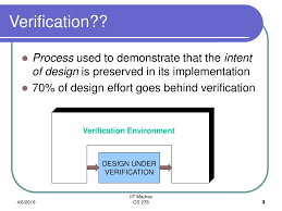 Design Verification Process Digital Design Verification Ppt Download