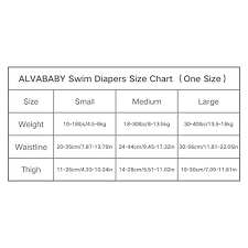 Alva Baby Swim Diapers 2pcs One Size Reuseable Washable Adjustable For Swimming Lesson Baby