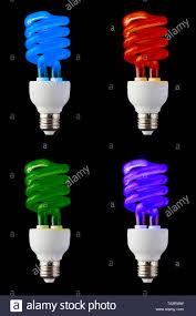 Cfl Tube Light Set Set Of Colored Cfl Neon Light Bulbs Isolated On Black