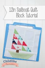 Sailboat Quilt Pattern Custom Decorating