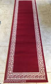 details about 2x8 runner area rug modern greek key design hallway red carpet size 2 x 7 2