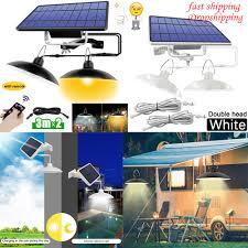 <b>Double Head Solar</b> Pendant Light Outdoor Indoor <b>Solar</b> Lamp With ...