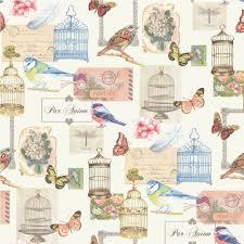 vintage birdcage wallpaper. Simple Birdcage Bird Cage Wallpaper White Multicoloured J51112 Intended Vintage Birdcage A