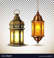 Ramadan Kareem Lamp Lantern Realistic