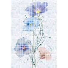 <b>Панно</b> из 4-х плиток Global Tile Summer голубое <b>40х60</b> см купить ...