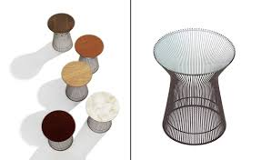 platner bronze side table  hivemoderncom
