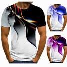 <b>Men's</b> 3D <b>Print T</b>-<b>Shirt</b> Personality Lightning <b>T</b>-<b>Shirt</b> Casual <b>Round</b> ...