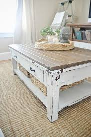 farmhouse style coffee table throughout diy world market makeover design 17