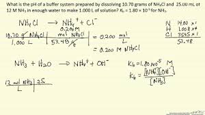 Ph Of Buffer Solution Example Youtube