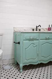 loving this fun colored aqua vanity from a dresser classic shilap that s easy to apply