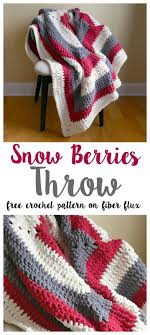 The Snow Berries Throw is wintry, lofty, and so super comfy! Crocheted in