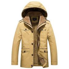 cah8808 men s autumn and winter leisure long cotton hooded jacket thick trench coat size xl