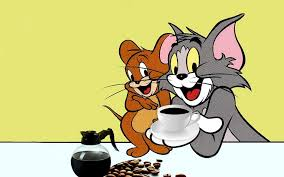 tom and jerry images tom and jerry drinking coffee hd wallpaper and background photos