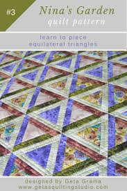 Triangle patchwork quilt pattern-sew equilateral triangles. & Triangle patchwork quilt pattern Adamdwight.com