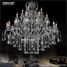 large 28 arms wrought iron chandelier crystal light fixture chrome re de sala crystal hanging lamp mde51 l28 long chandelier simple chandelier from