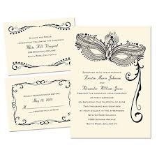 Masquerade Wedding Invites Masked Mystique 3 For 1 Invitation Wedding Invitation Trends