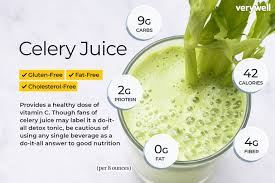 Booster Juice Nutrition Chart Celery Juice Nutrition Facts