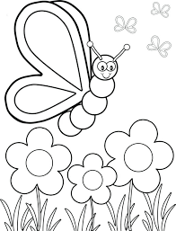 Printable Coloring Pages Flowers And Butterflies Free Coloring Pages