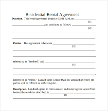 Simple Rental Agreement Template Simple Rental Agreement 9 Download Free Documents In Pdf Word