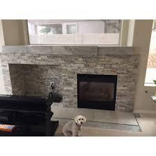 silver travertine stack stone wall cladding panel z pattern 3 beige cream gray white indoor outdoor