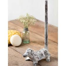 Dachshund Paper Towel Holder Delectable White Cast Iron Dachshund Paper Towel Holder A Cottage In The City