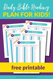 Free Bible Reading Chart Printable Free Printable With A Daily Bible Reading Plan For Kids