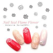 楽天市場ネイルアート ネイルシール Cb 076 フレームフラワー お花