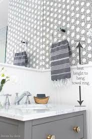 hanging towel on bar. Interesting Towel Great Tip For How High To Hang A Towel Ring In Your Bathroom Check Out With Hanging Towel On Bar