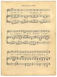 printable vintage sheet music vintage printable christmas sheet music santa the graphics fairy