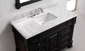 single basin bathroom vanity top huntshire virtu