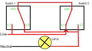 two way light switch connection inside wiring way diagram how to wire two switches to one light at Wiring Two Way Switch Light Diagram