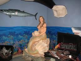 mermaid statue on rock jr fsc1031