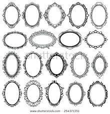 antique oval picture frames. Set Of Black Oval Vintage Frames Design Elements Picture Antique Bubble Glass . Style
